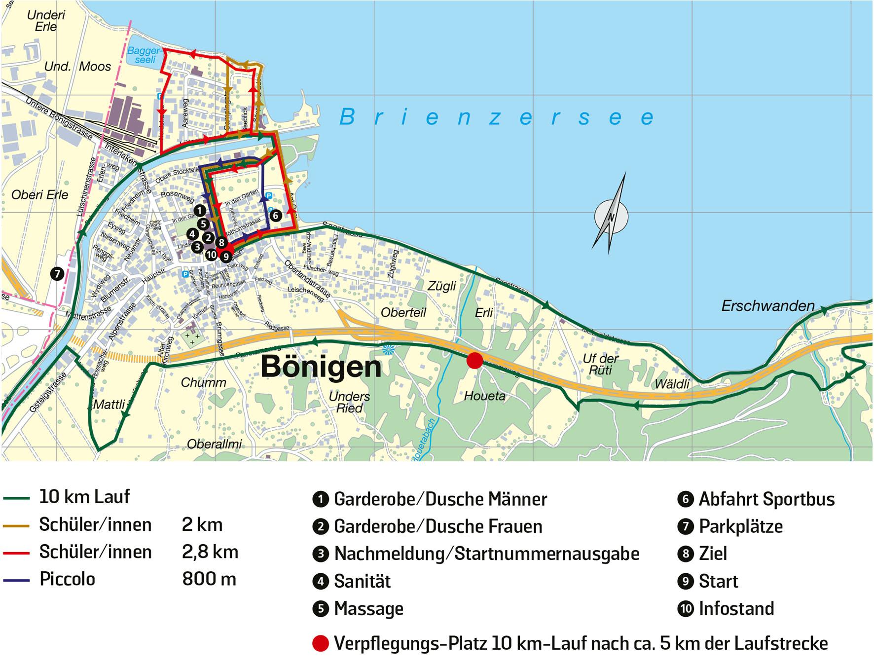 Streckenpläne Jugendläufe und 10km-Lauf
